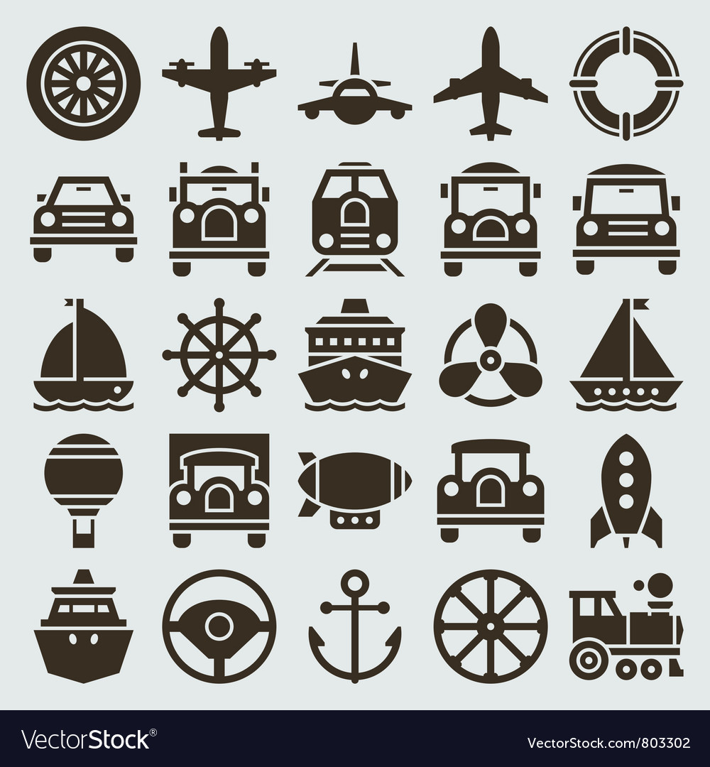 Vintage retro icons vector | Price: 1 Credit (USD $1)