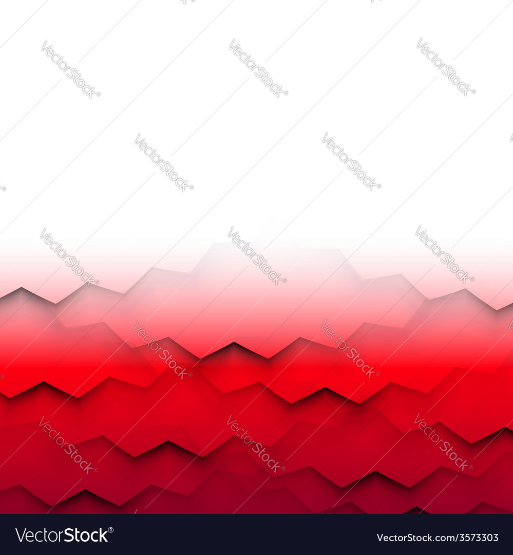 Abstract frame with red waves vector | Price: 1 Credit (USD $1)