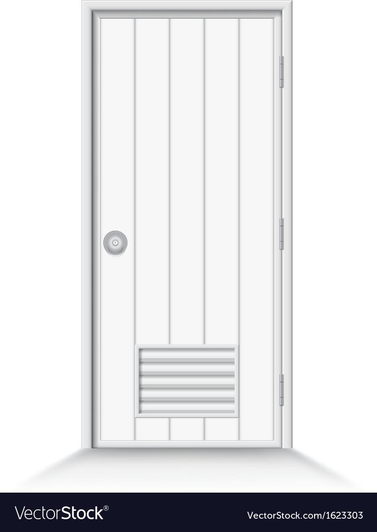 Bathroom door on isolate background vector | Price: 1 Credit (USD $1)