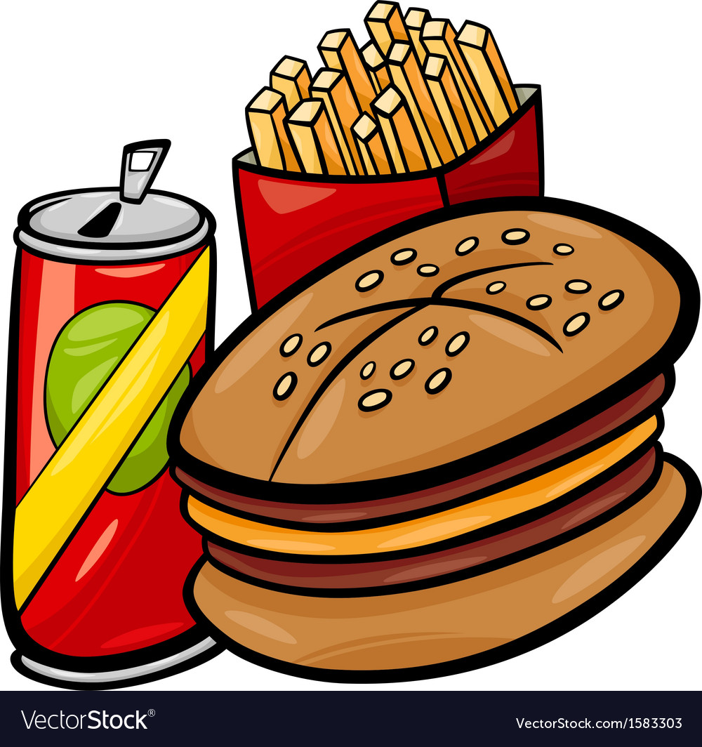 Fast food cartoon clip art vector | Price: 1 Credit (USD $1)
