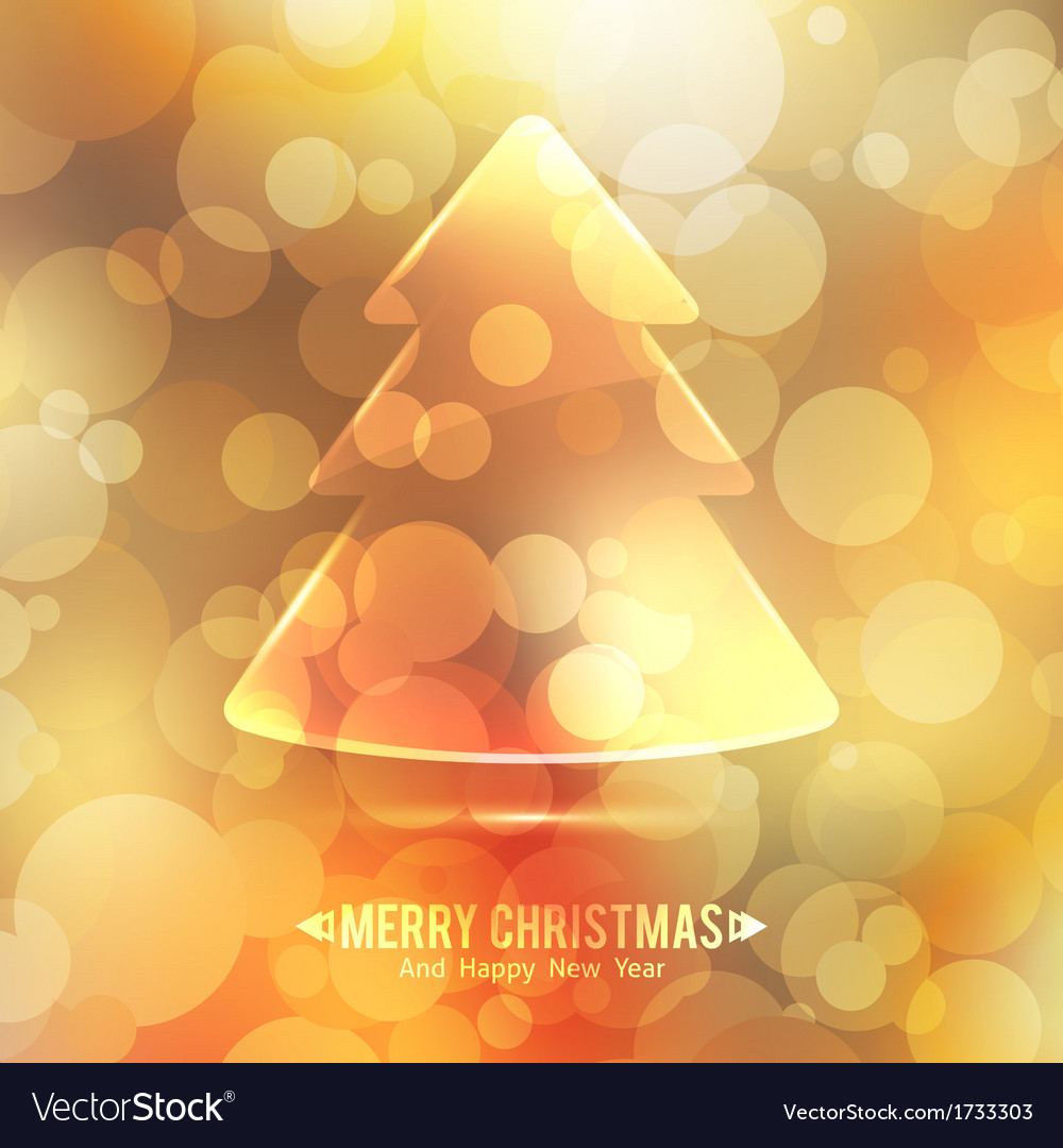 Glass christmas tree vector | Price: 1 Credit (USD $1)