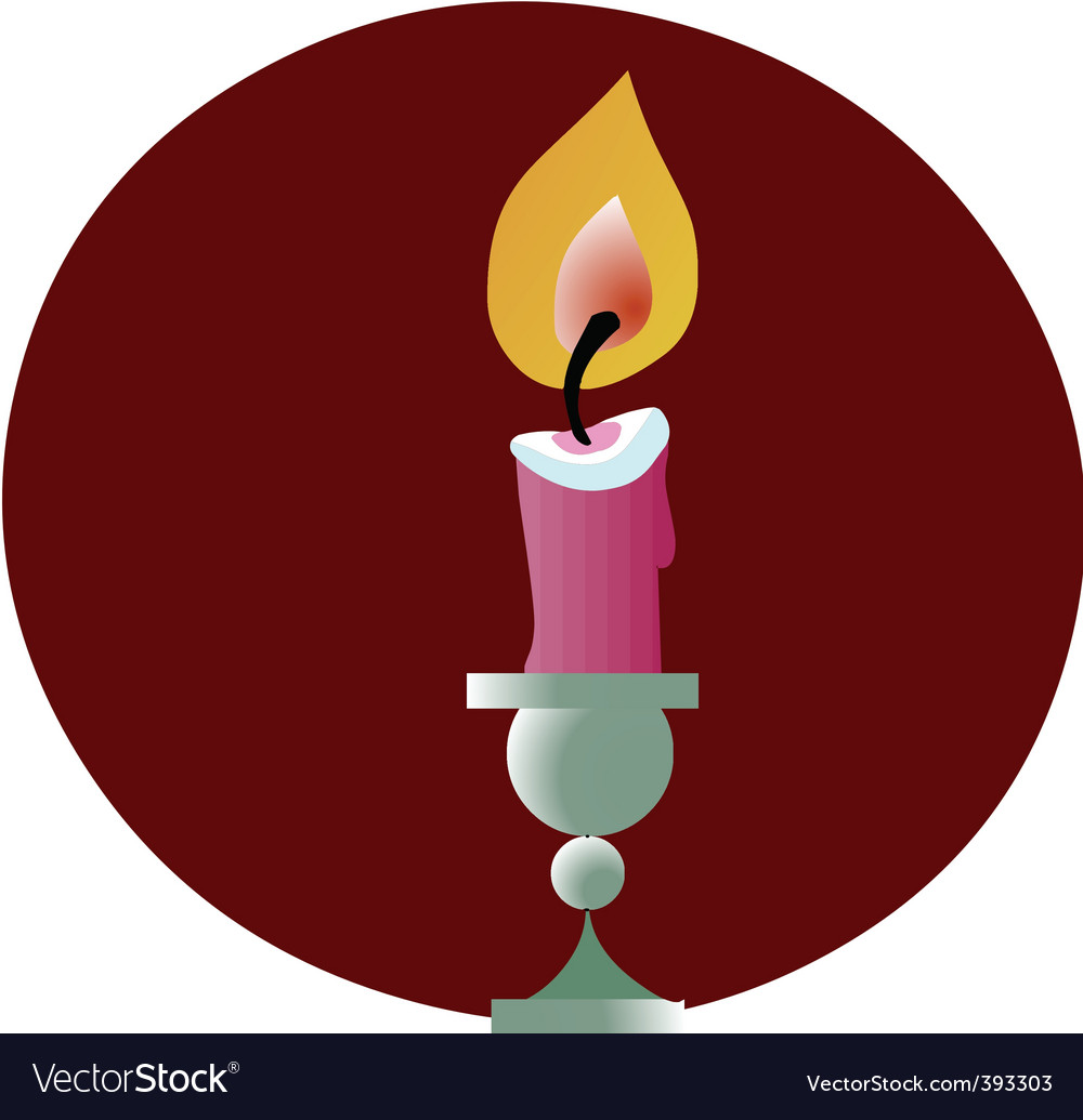 Lit candle vector | Price: 1 Credit (USD $1)