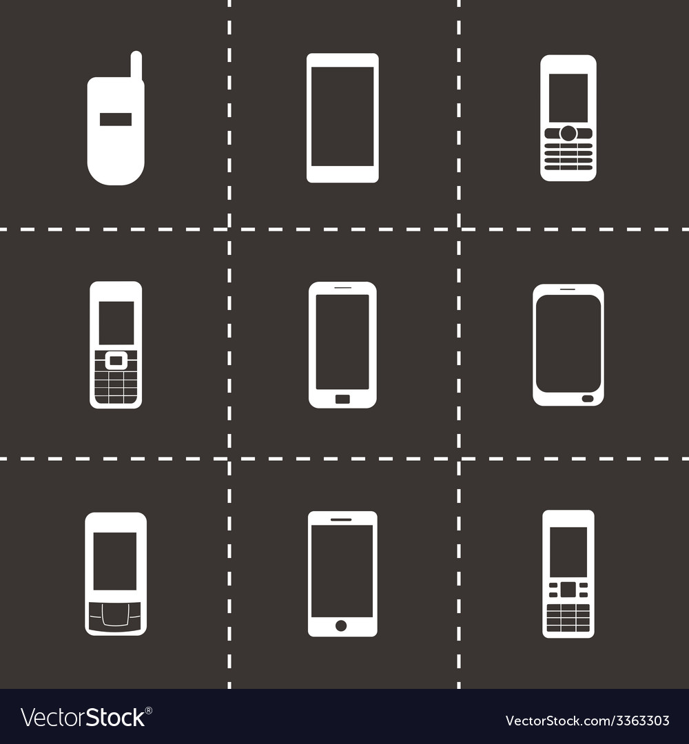 Mobile icons set vector   Price: 1 Credit (USD $1)