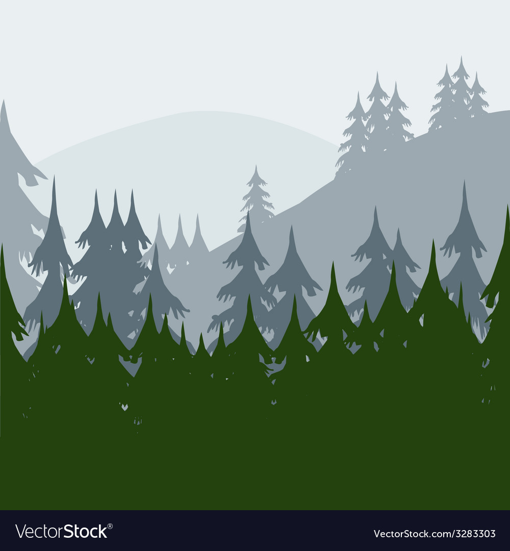 Morning in wood vector | Price: 1 Credit (USD $1)