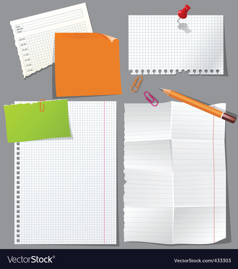 Office stationery vector | Price: 1 Credit (USD $1)