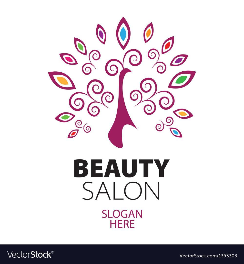 Peacock logo for beauty salon vector | Price: 1 Credit (USD $1)
