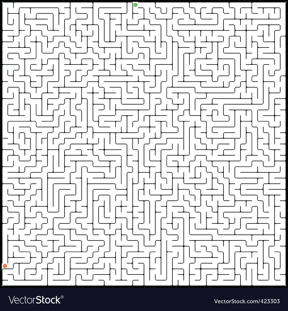 Perfect maze vector | Price: 1 Credit (USD $1)