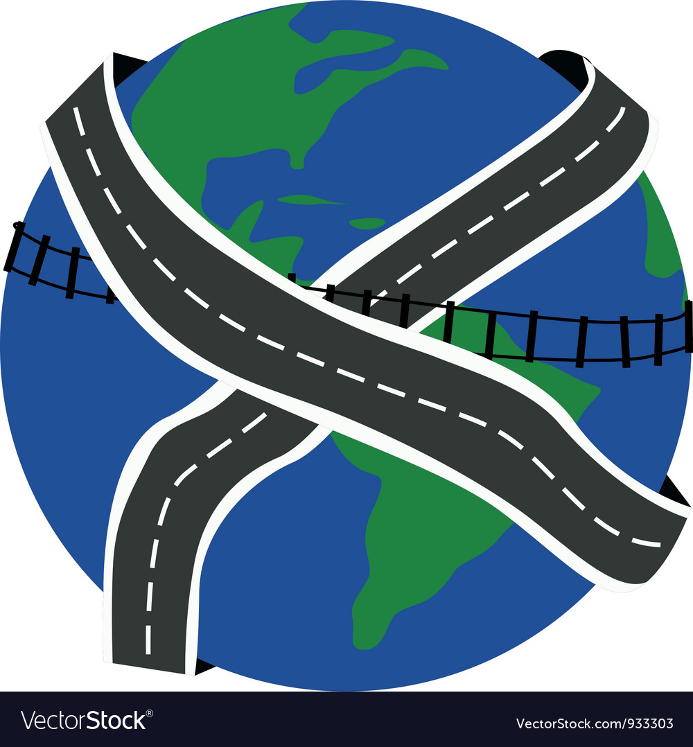 Roads of the earth vector | Price: 1 Credit (USD $1)