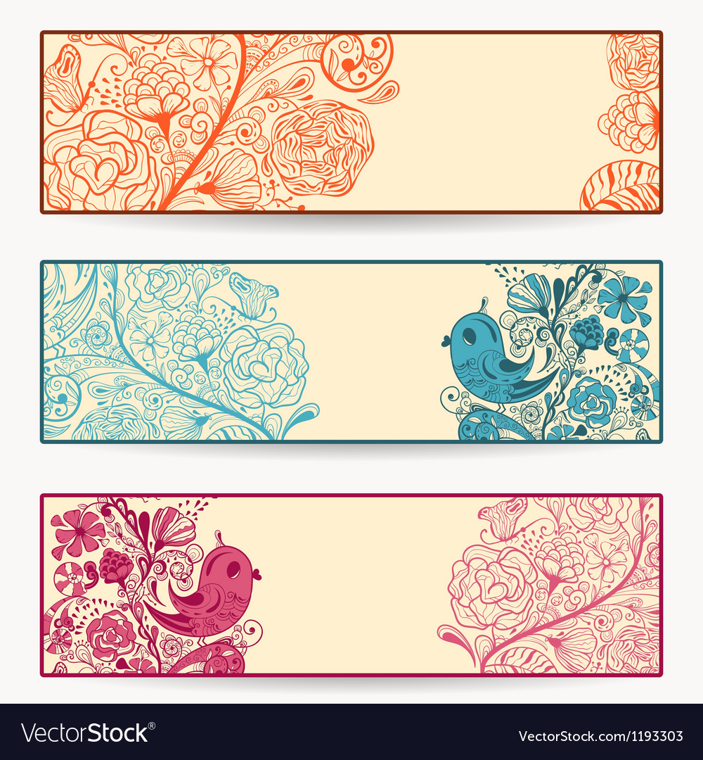 Spring banners vector | Price: 3 Credit (USD $3)