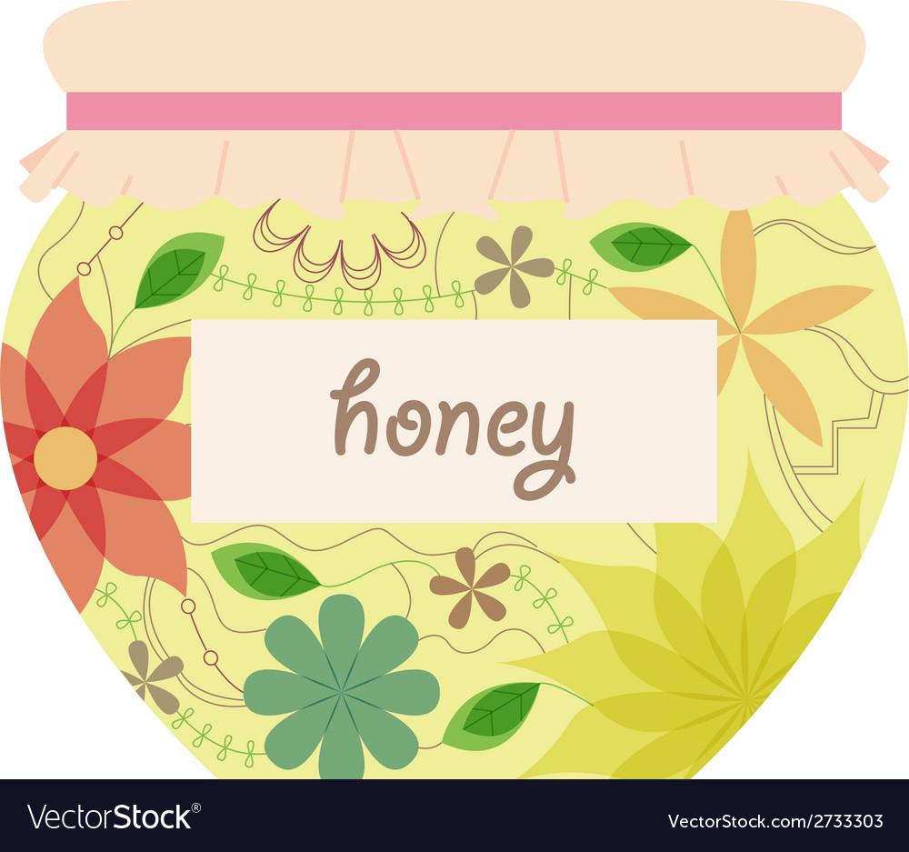 Vintage honey jar vector | Price: 1 Credit (USD $1)
