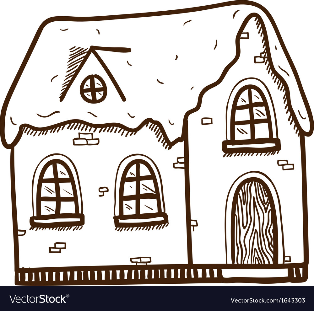 Winter cute house vector | Price: 1 Credit (USD $1)