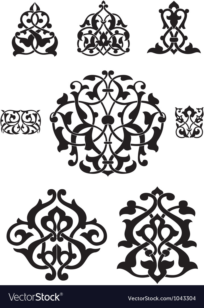 Arabesque collection for design vector | Price: 1 Credit (USD $1)
