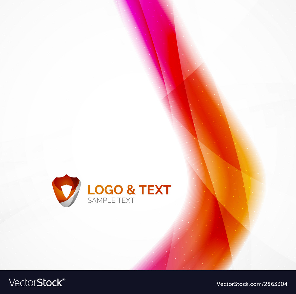 Business wave purple and orange vector | Price: 1 Credit (USD $1)