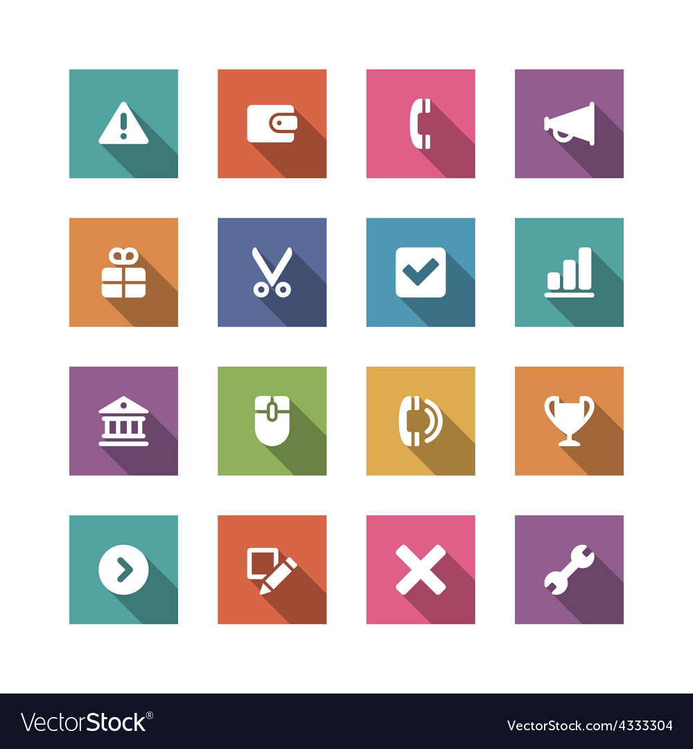 Flat icons set for design web sites and mobile vector   Price: 1 Credit (USD $1)