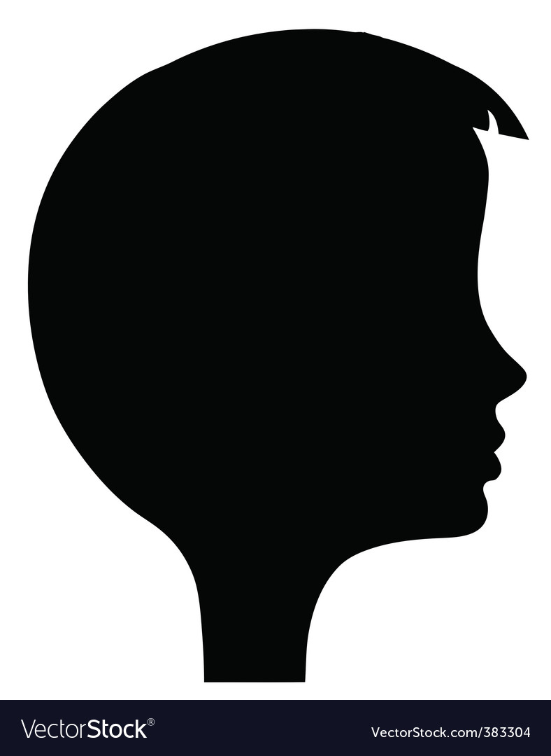 Girl's head silhouette vector | Price: 1 Credit (USD $1)