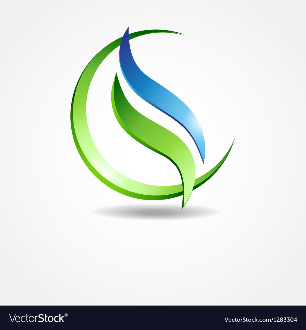 Green ecological banner vector | Price: 1 Credit (USD $1)
