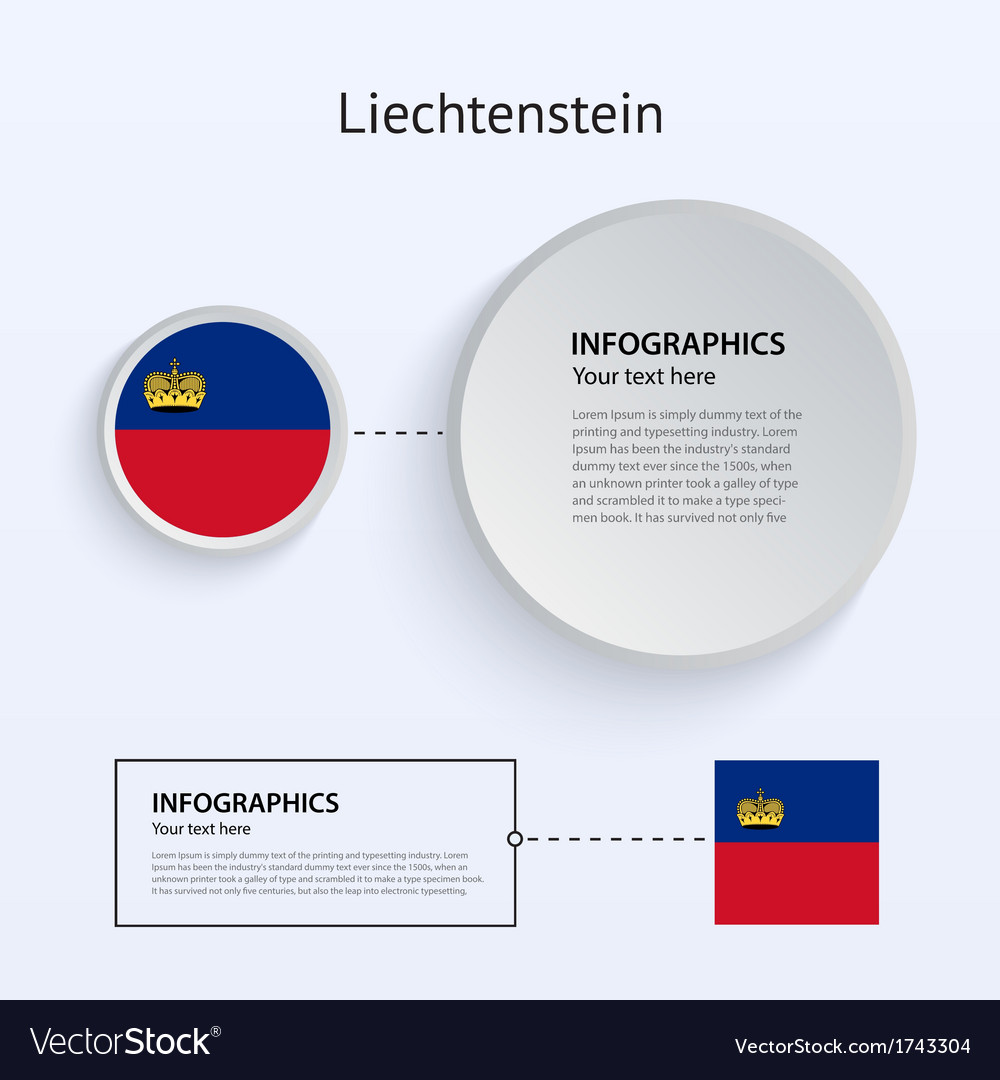Liechtenstein country set of banners vector | Price: 1 Credit (USD $1)