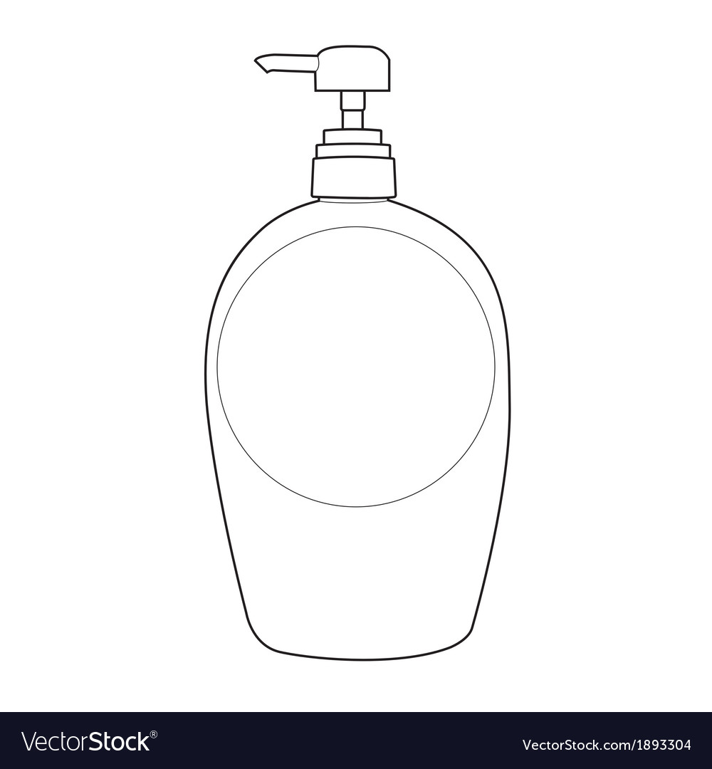 Lotion bottle outline vector | Price: 1 Credit (USD $1)