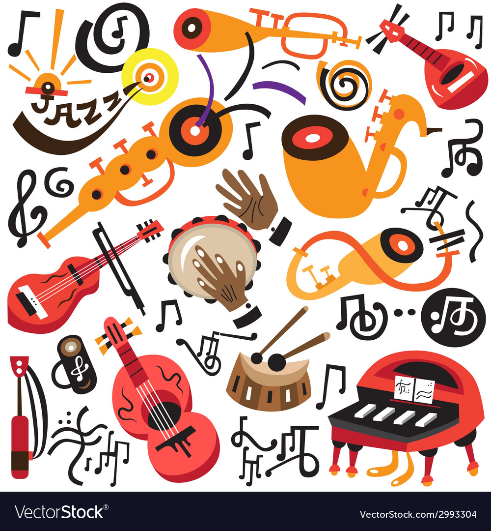 Musical instruments - doodles set vector | Price: 1 Credit (USD $1)