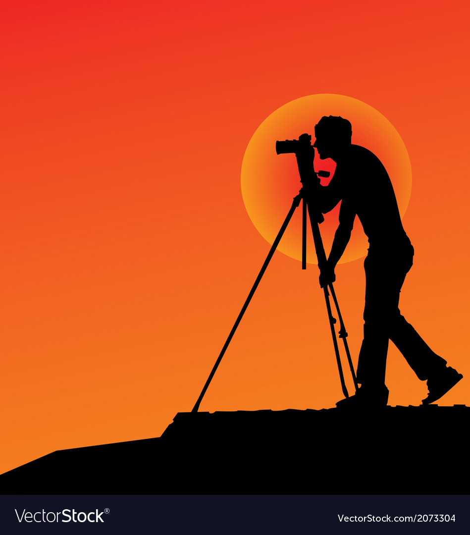 Photographer silhouettes vector | Price: 1 Credit (USD $1)