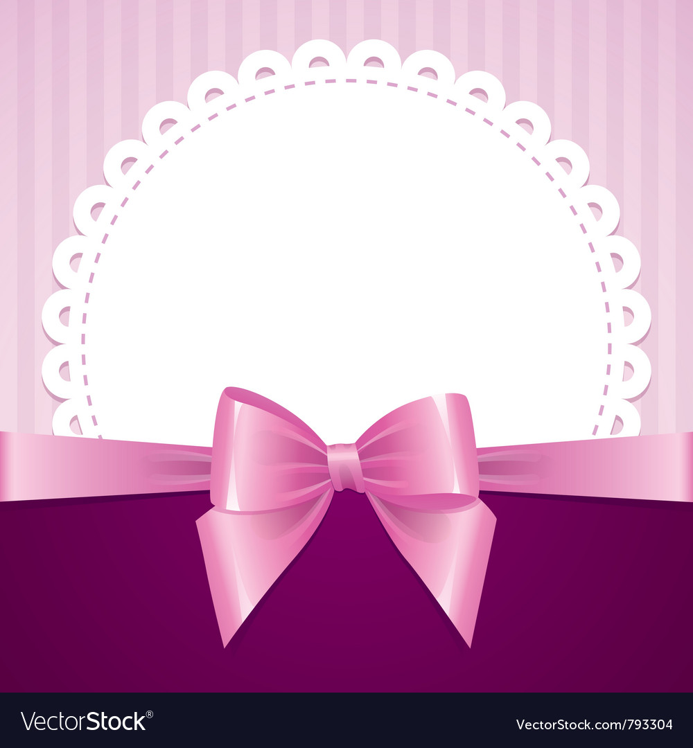 Pink background with bow vector | Price: 1 Credit (USD $1)