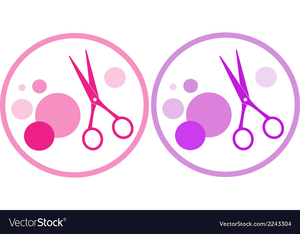 Set of colorful hair salon symbol vector | Price: 1 Credit (USD $1)