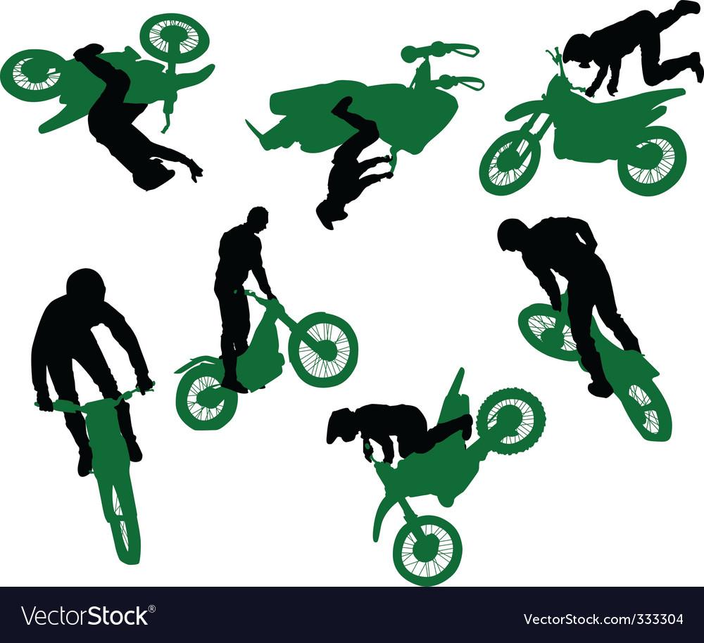 Silhouette of stunt man vector | Price: 1 Credit (USD $1)