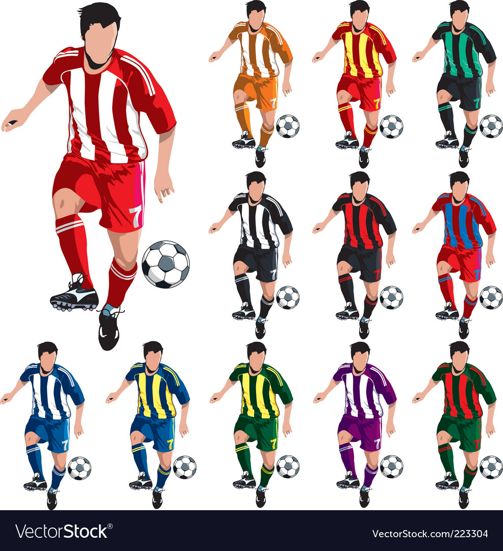 Soccer players vector | Price: 3 Credit (USD $3)