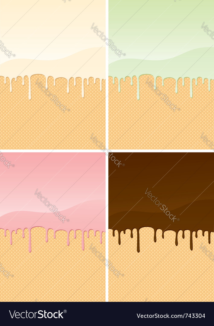Waffles with cream vector | Price: 1 Credit (USD $1)