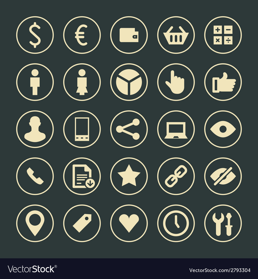 Web site icons set design elements for design vector | Price: 1 Credit (USD $1)