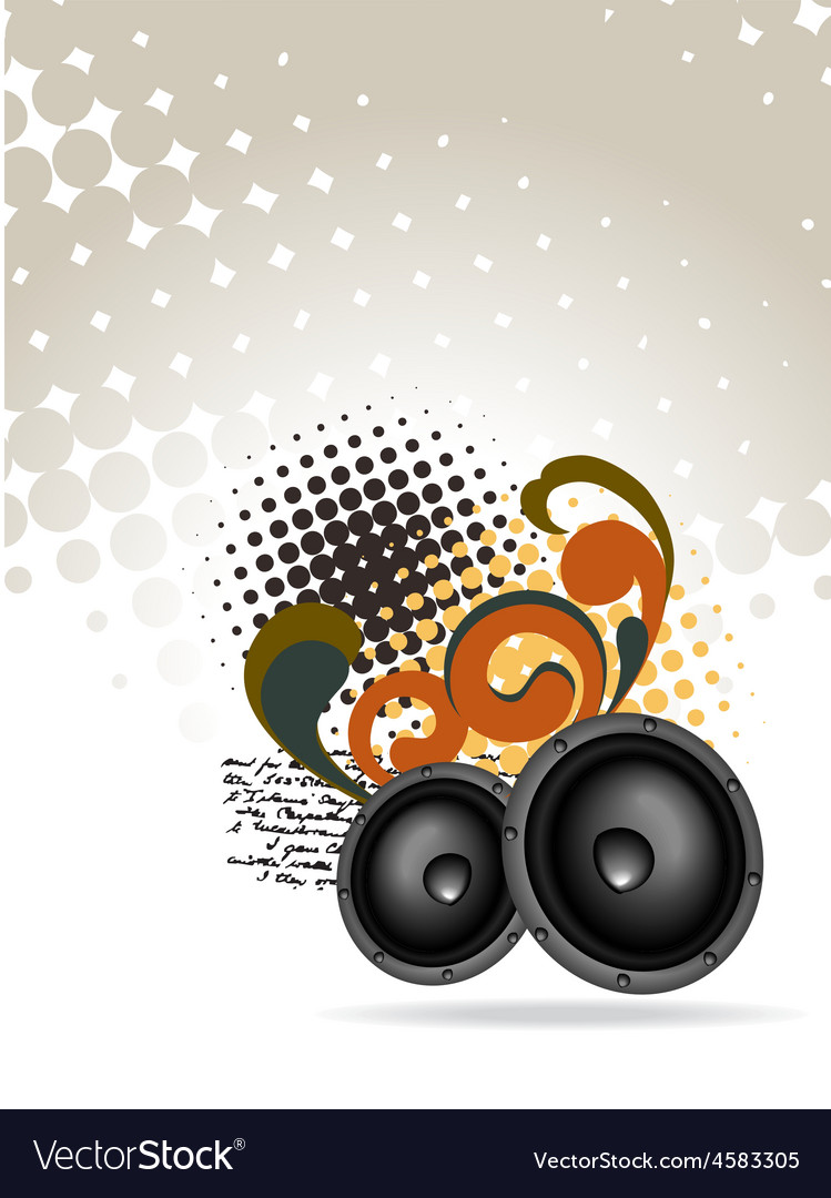 Abstract speakers design vector | Price: 1 Credit (USD $1)