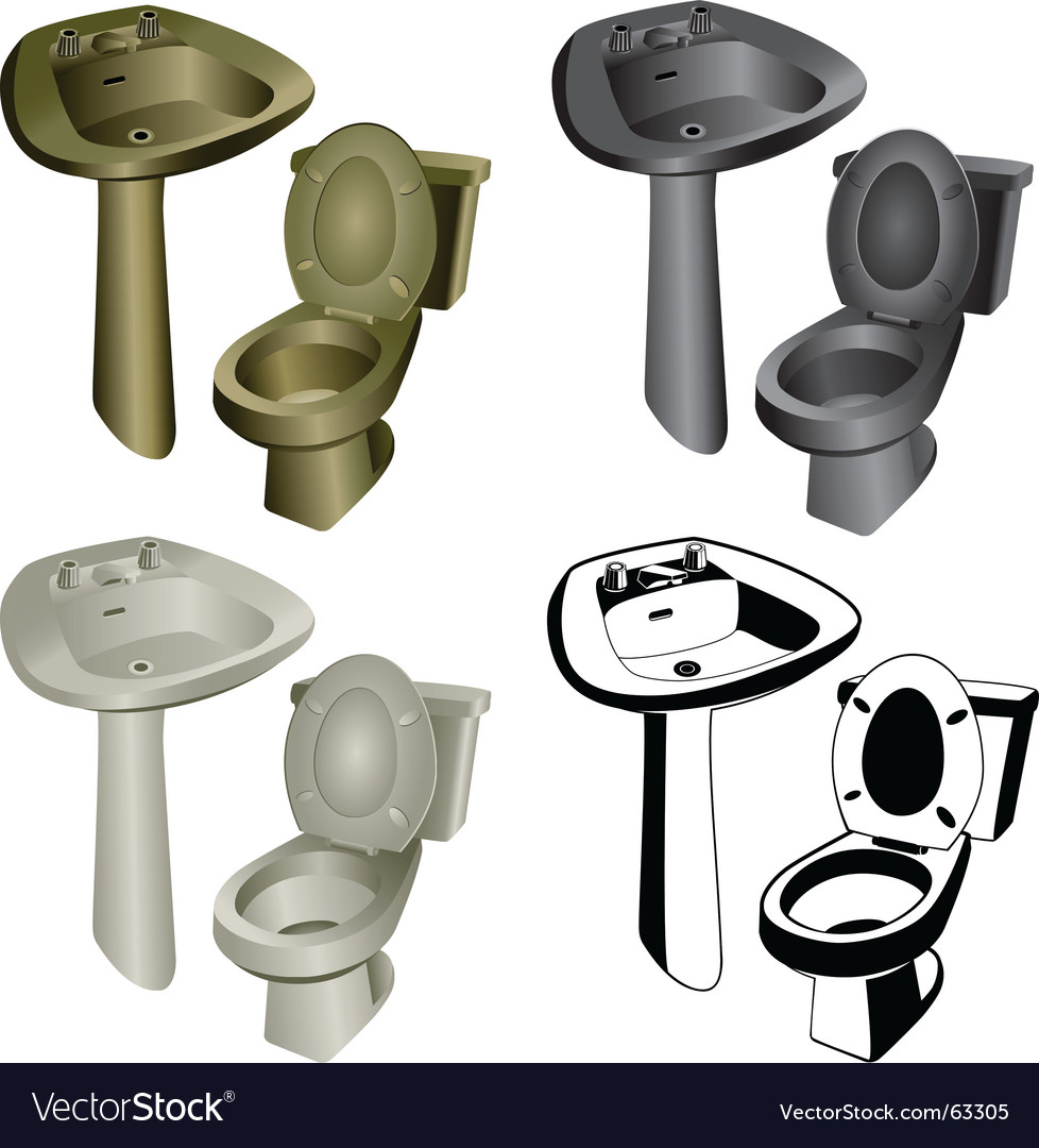Bathroom hardware vector | Price: 1 Credit (USD $1)