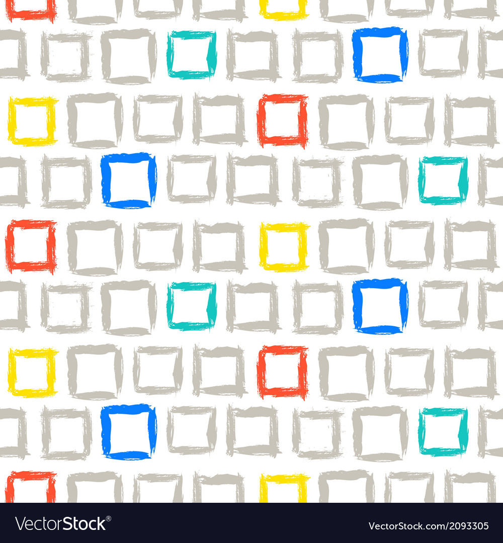 Geometric pattern with small hand painted squares vector | Price: 1 Credit (USD $1)