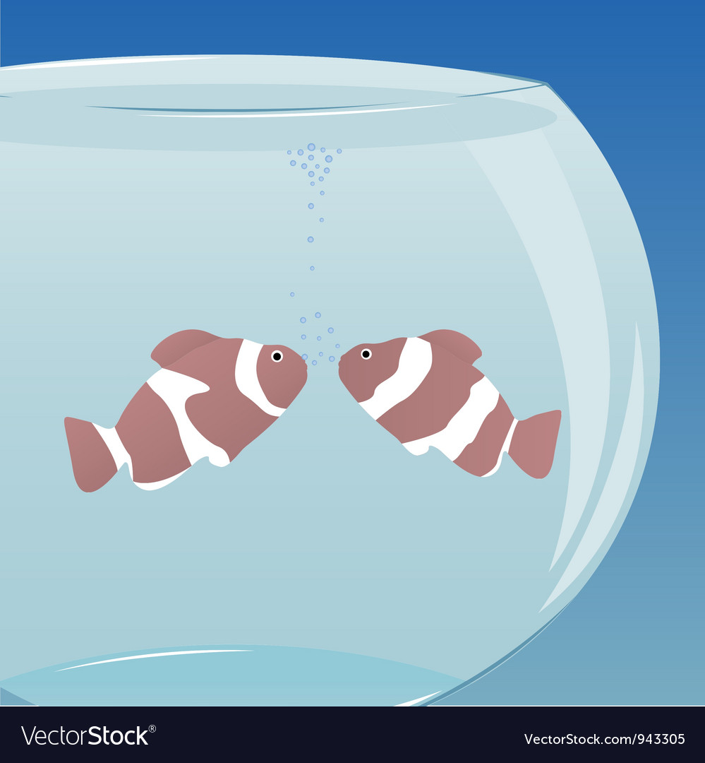 Love in aquarium vector | Price: 1 Credit (USD $1)