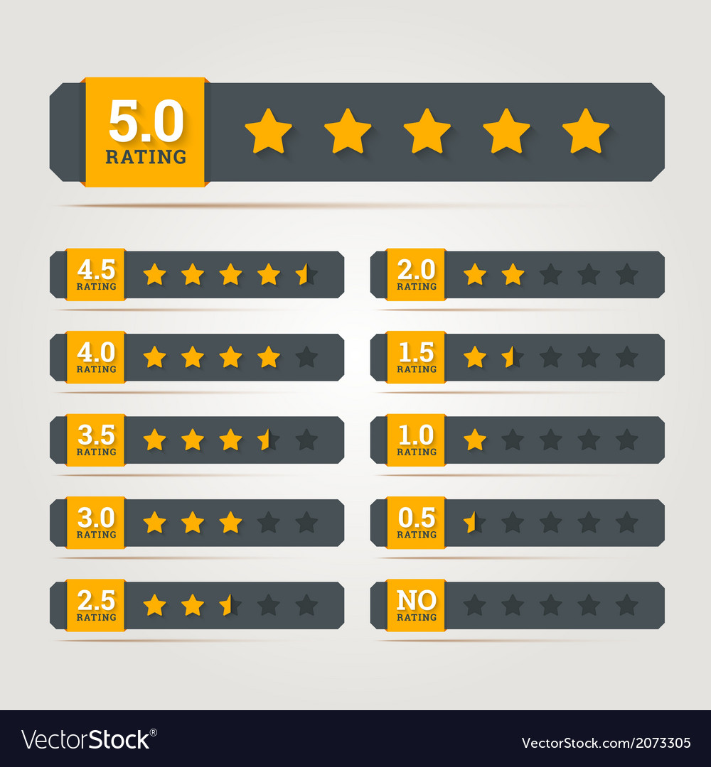 Rating stars badges vector | Price: 1 Credit (USD $1)