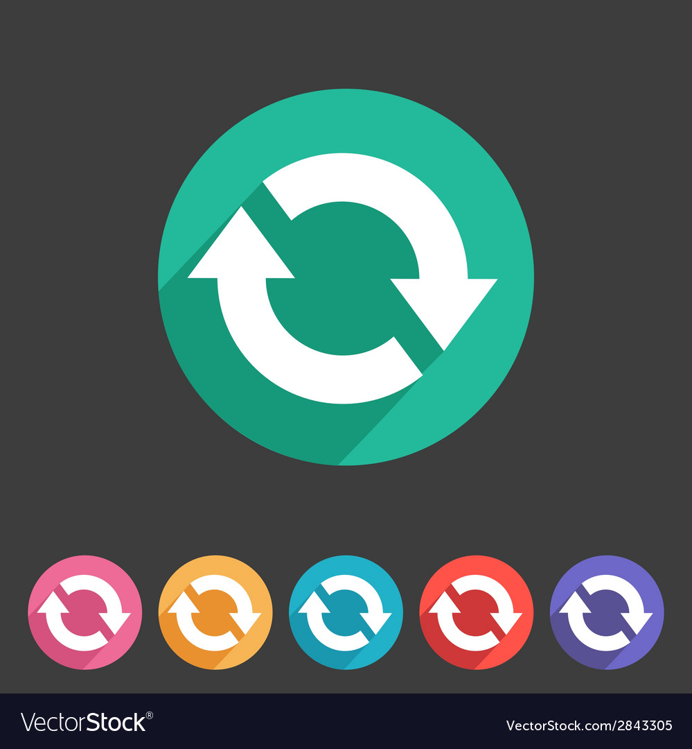 Refresh reload flat icon badge vector | Price: 1 Credit (USD $1)