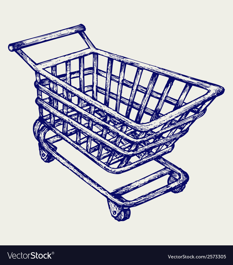Shopping supermarket cart vector | Price: 1 Credit (USD $1)