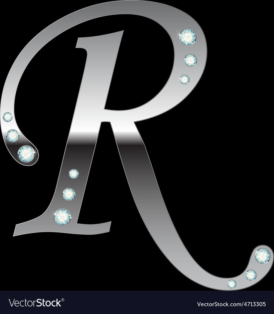 Silver metallic letter r vector | Price: 1 Credit (USD $1)