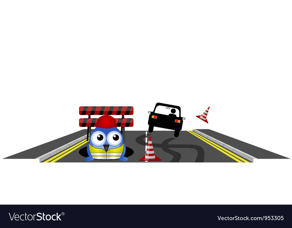 Workers car skidding vector | Price: 1 Credit (USD $1)