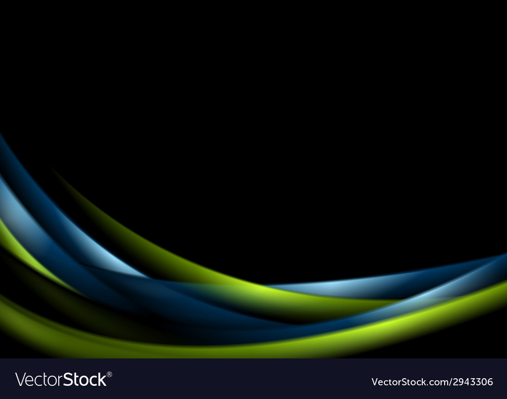 Abstract shiny glow waves background vector | Price: 1 Credit (USD $1)