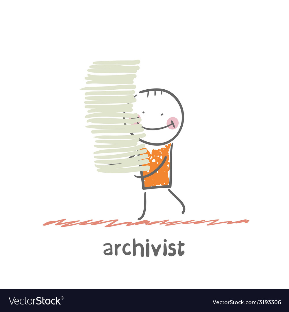 Archivist vector | Price: 1 Credit (USD $1)