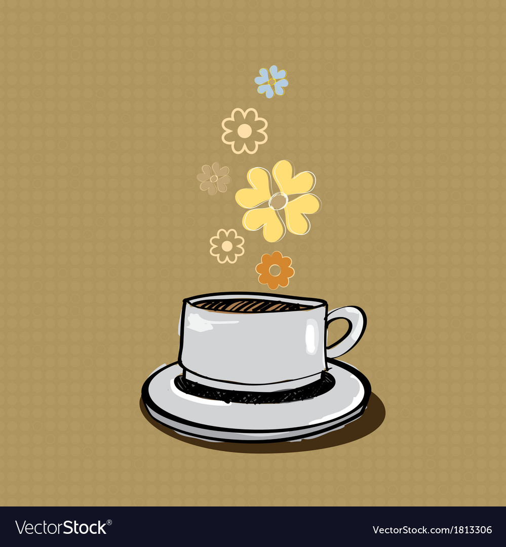Aroma coffee banner vector | Price: 1 Credit (USD $1)