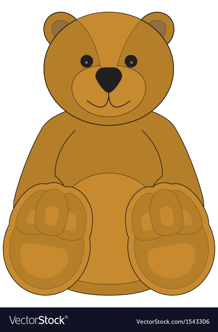 Childrens of a teddy bear vector | Price: 1 Credit (USD $1)
