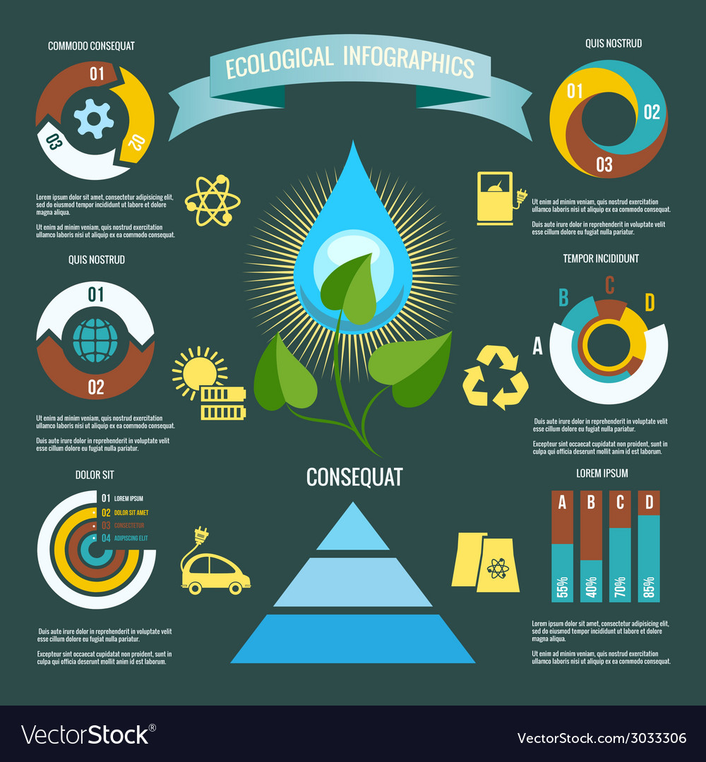 Ecology infographic vector | Price: 1 Credit (USD $1)