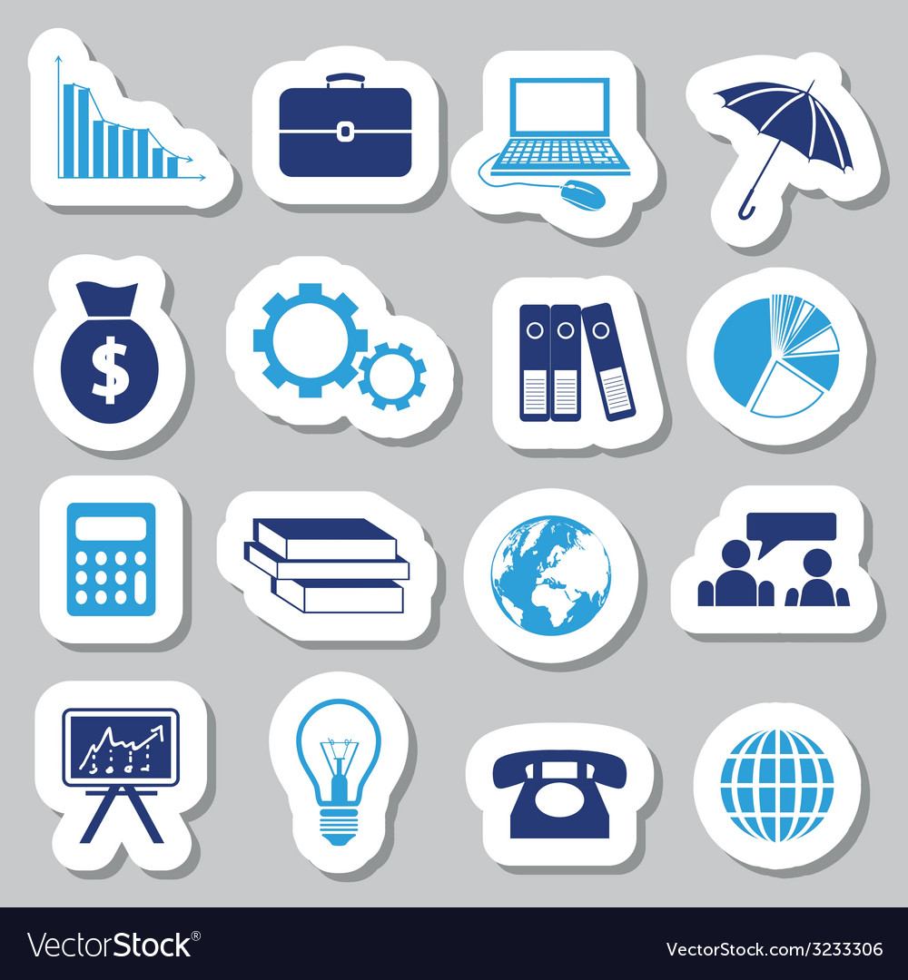 Economy stickers vector | Price: 1 Credit (USD $1)
