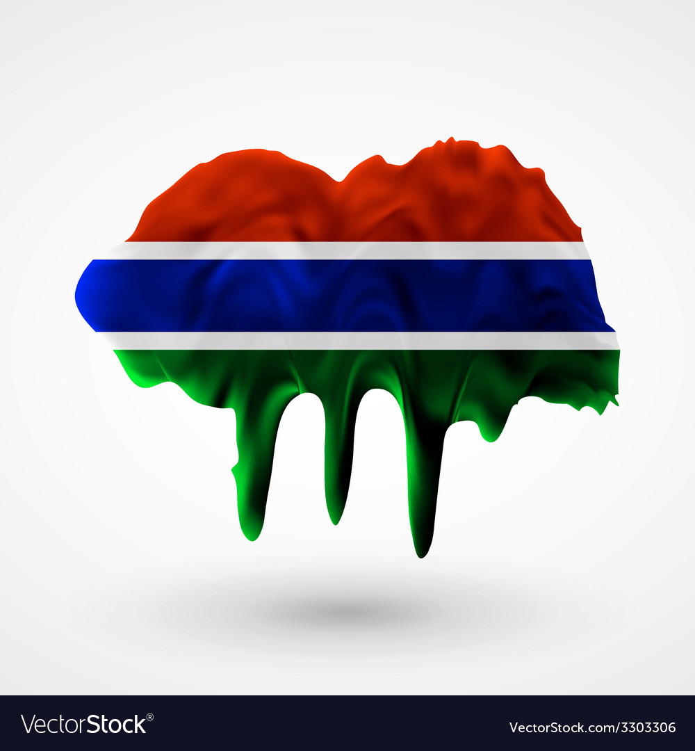 Flag of gambia painted colors vector | Price: 1 Credit (USD $1)