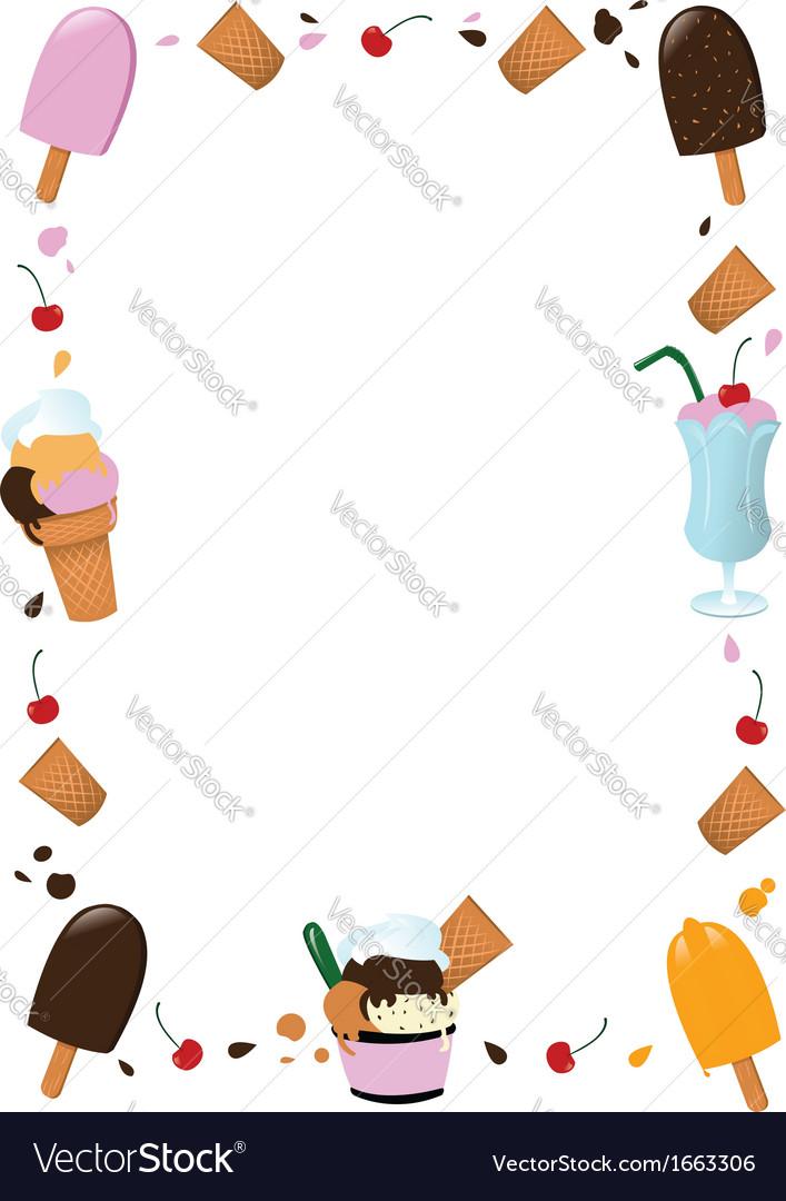 Ice cream frame vector | Price: 1 Credit (USD $1)