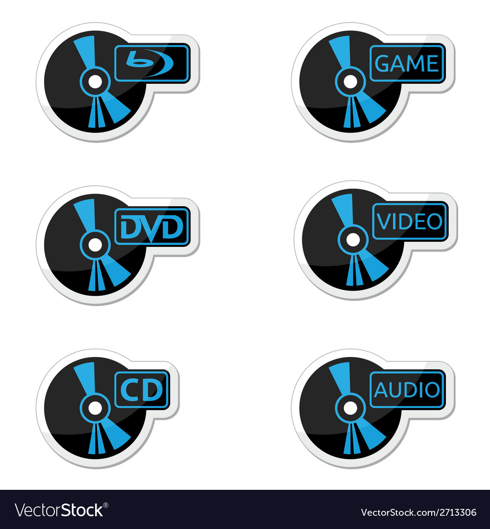 Icons optical disc vector | Price: 1 Credit (USD $1)