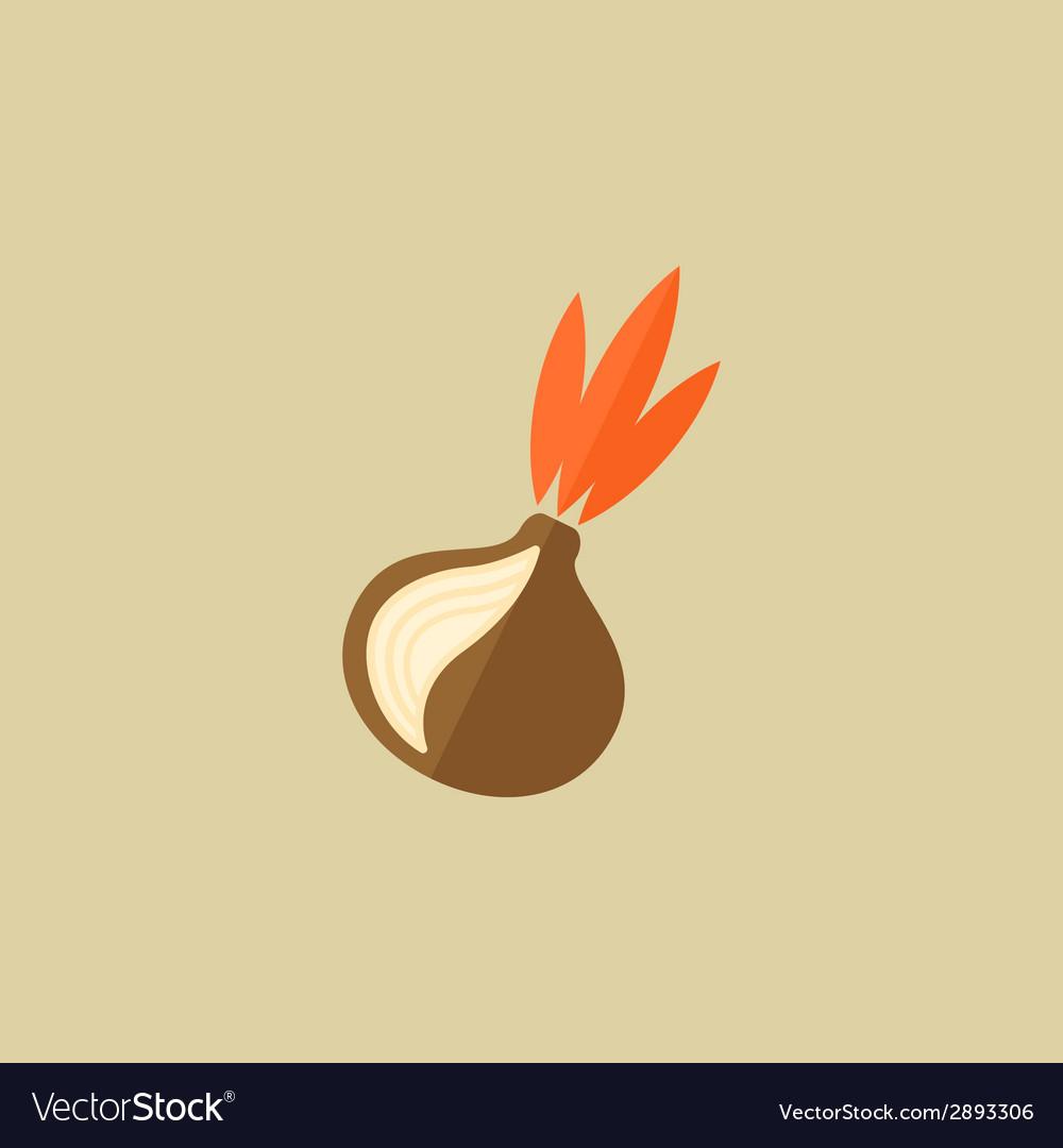 Onion food flat icon vector   Price: 1 Credit (USD $1)
