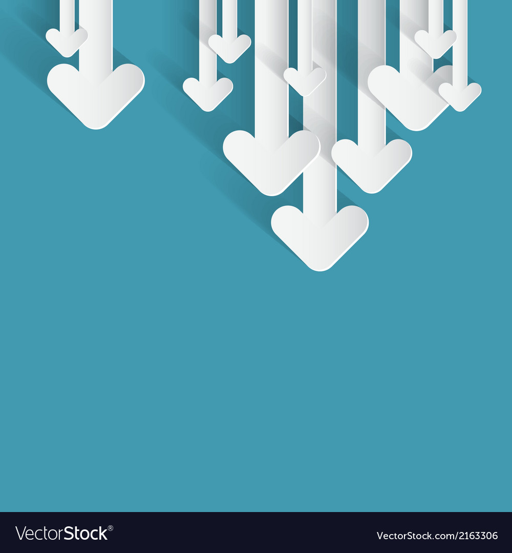 Paper arrows on blue background vector | Price: 1 Credit (USD $1)
